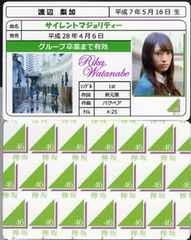 渡辺梨加 サイレントマジョリティー 免許証カード 欅坂46