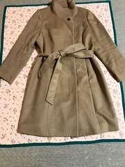 美品 INDIVI 大きなサイズ カシミヤ混コート サイズ19号〜21号