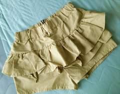Heather◆フリルティアードショートパンツ◆ベージュ◆フリーサイズ◆新品◆