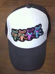 【新品同様】デッドベアー★刺繍ワッペン★キャップ/帽子(黒)