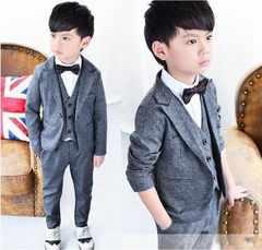 ★男の子フォーマルスーツ3点セット120/入学式タキシード結婚式