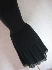 インディヴィ/INDIVI☆黒シフォンスカート♪38サイズ☆