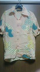 hidehikoyamane 100%DESIGN 家紋入り和柄アロハシャツ