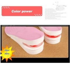 [ピンク女性用]2段5cm シークレットインソール 上げ底 厚底 中敷