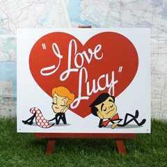 ★新品★【ブリキ看板】I Love Lucy/アイ・ラブ・ルーシー ロゴ