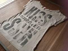 ☆アナップ☆ロゴラインストーン☆ビッグTシャツ☆半袖ワンピ☆モカ☆F