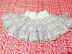 美品☆花柄 水色 スカート 100