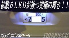 Mオク】ステップワゴンRF1/2/3/4系/ナンバー灯超拡散6連ホワイト