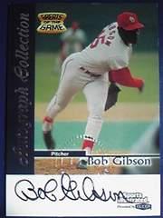 FLEER99 BOB.GIBSON・Greats of the Game.Auto直筆サインカード