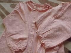 長袖上下可愛い♪フリルパジャマ140cm/ハートピンク