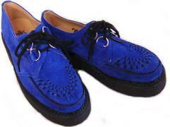 英国ジョージコックス3588ロイヤル ブルー スエードuk4