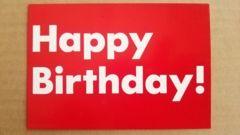 ��Happy Birthday���|�X�g�J�[�h