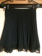 ラストシーン 裾レースプリーツスカート☆未使用☆