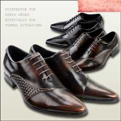新品 レースアップ ドレス シューズ ビジネス ブラック ブラウン 靴 ポインテッドトゥ