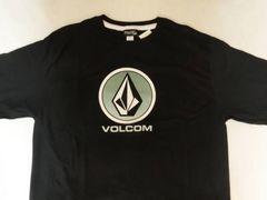 USA購入【Volcom】シンプルなSTONEロゴプリントTシャツUS S 黒