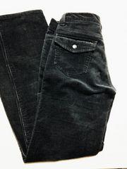 濃いグレー紫系のコールテン風カジュアルパンツ★61cm