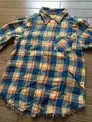 26■美品■リバーシブル ボタンシャツ 120cm 切手払い可能