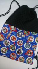 91N  妖怪ウォッチ  ナップサック巾着 (*^O^*) 着替え袋 ハンドメイド