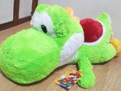 スーパーマリオ特大サイズクタッとぬいぐるみヨッシー(限定ver.)55�p
