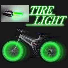 LEDホイールライト緑 2個1組 激安出品!!