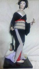 三味線と象牙!?のバチを持った芸子さん日本人形♪