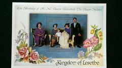 英国エリザベス女王他《女王バースデー記念》未使用小型シート