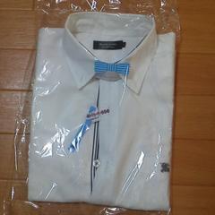 美品クリーニング済バーバリーブラックレーベル2白デザインシャツ激安即決
