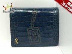 ロベルタ ディ カメリーノ 2つ折り財布 型押し加工 レザー