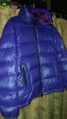 リバーシブルダウン紫、パープルフリーサイズ?難あり商品