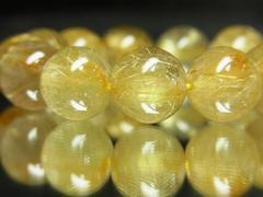 魔法の力を放つ??金針水晶タイチンルチル16mm数珠ブレスレット