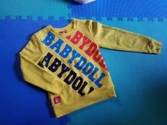 BABYDOLL☆斜めロゴトレーナー☆ベビードール 美品