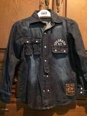 デニムシャツ 140�p 美品