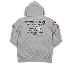 カミナリ雷/ハコスカGTR/スエットパーカー/ash/kmpsp-100/エフ商会/テッドマン
