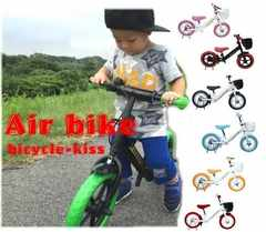 ★ペダルなし自転車/ストライダー風キックバイク/バランスバイク/オレンジ