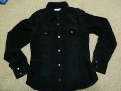 美品♪コーデュロイ地♪ブラックシャツ♪Lサイズ