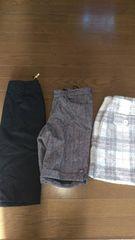 M 美品スカート パンツ 3点セット