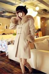XL 大きいサイズ ファー付コート ♪