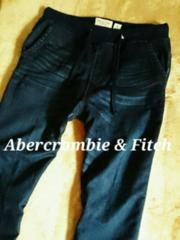 【Abercrombie&Fitch】アバクロ Vintage スウェットジョガーデニム L/D.Wash
