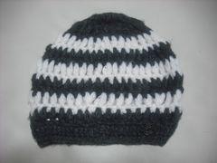 wb482 女 RIP CURL リップカール ウール ニット帽 ボーダー