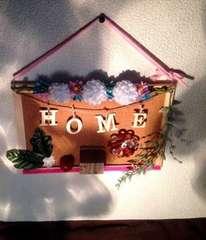 ウェルカムボード お花 木のお家 壁掛け インテリア