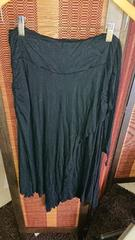 ■春物美品LIPSERVICE黒裾変形巻きスカート■