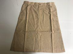 新品■大きいサイズ3L■綿麻混カーゴスカート■ベージュ