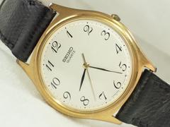 5286/SEIKOセイコー★高額ヴィンテージタイプゴールドケースクラシカルメンズ腕時計