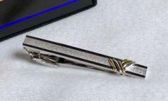 正規美 Yves Saint Laurentイヴサンローラン yコンビカラー×メッシュタイピン SV925