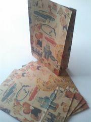 用途いろいろ角底紙袋★キスミーMサイズ5枚