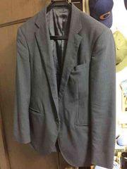 夏物紺色ストライプスーツ上下セット 青山 青木 ORIHIKA