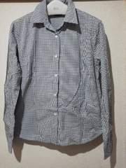 ユニクロチェックシャツ《L》綿 /送料180円
