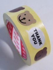 訳あり値引き★シナモンベア☆サンキューロゴ入★キュートプリントテープ