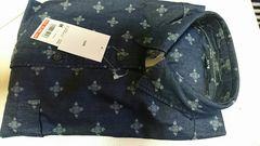 UNIQLOユニクロMサイズ濃いブルーデニムプリントシャツです。新品タグ付きです。