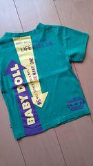 中古矢印Tシャツ90100緑ベビドBABYDOLLベビードール